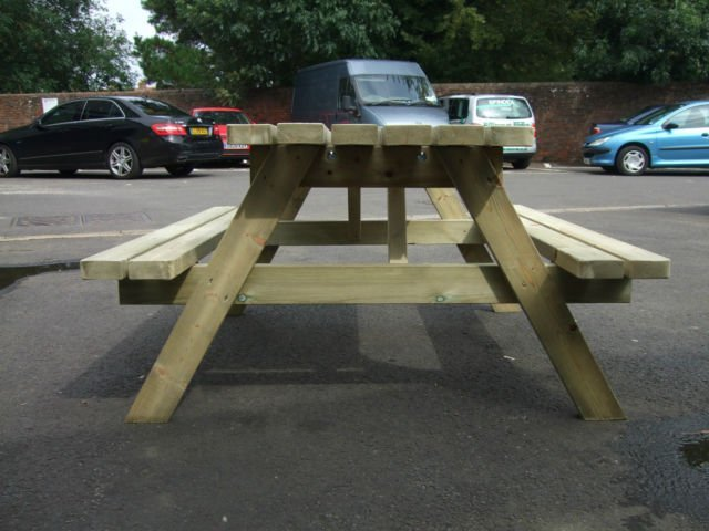 Seat picnic bench pub garden table pressure treated