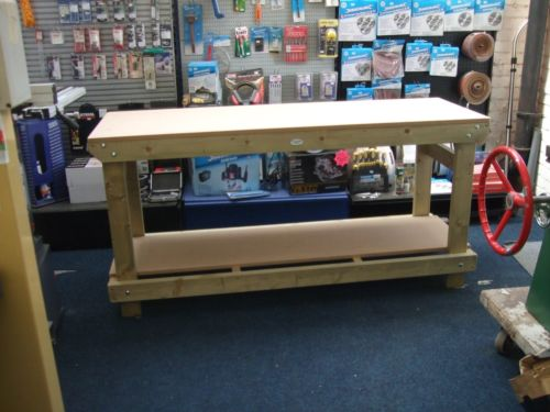 mdf topped heavy duty workbench from wells timber products