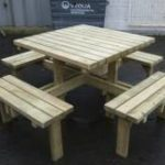 Fabulous 8 seat Patio Table / Pub Garden Table hand made by Wells Timber Products