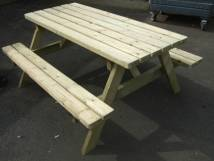 6 Seat Picnic Bench / 6 Seat Pub Garden Table / 8 seat pub Garden Table - 5 Pub Garden Table Multi Buy deals available