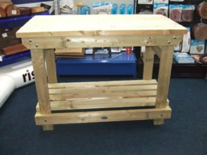 Small Heavy Duty Work bench by Wells Timber Products