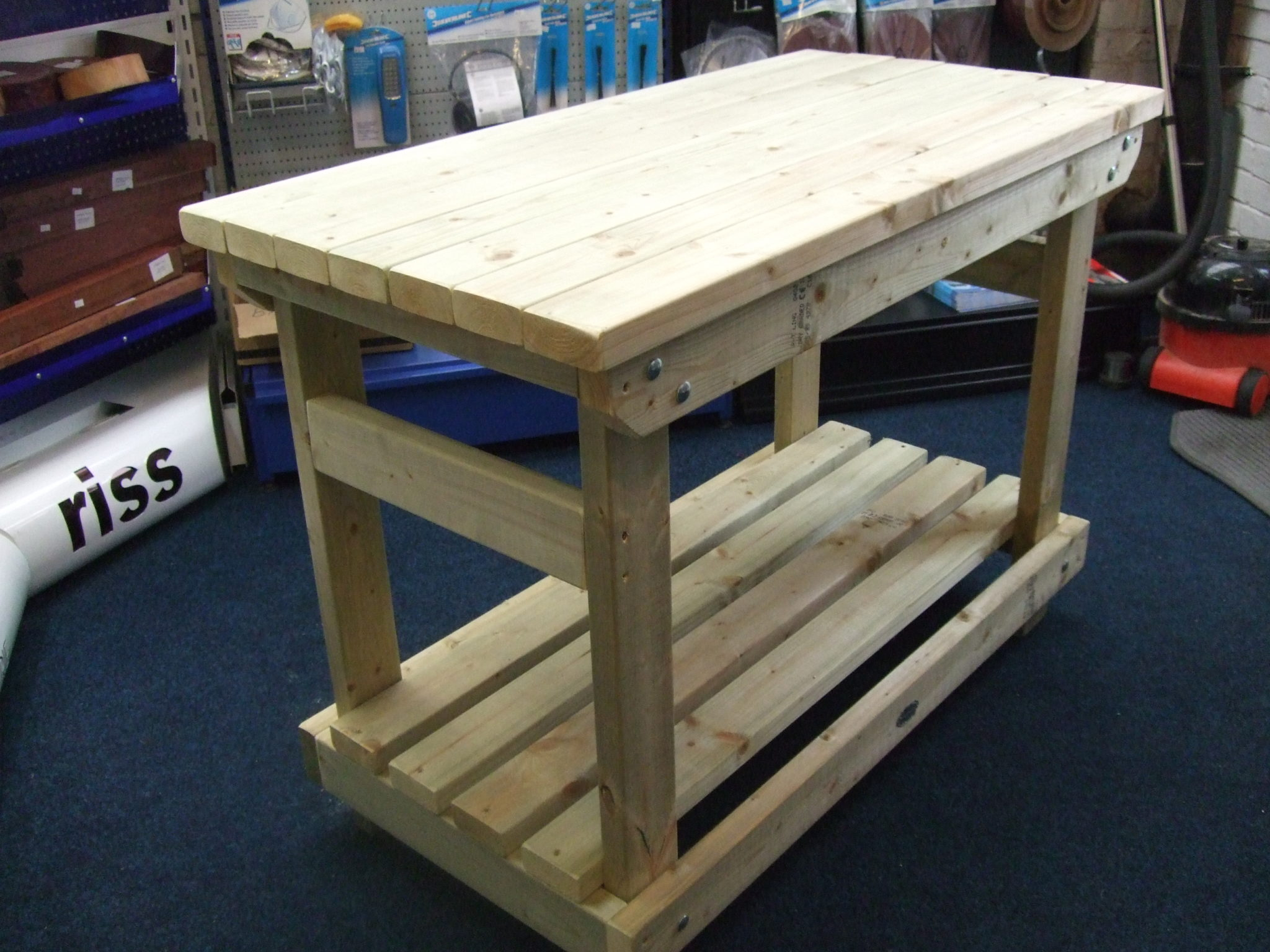 Custom Heavy Duty Work benches by Wells Timber Products