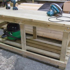 Custom Heavy Duty Wooden Workbenches by Wells Timber Products