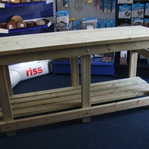 Custom Heavy Duty Wooden Work bench by Wells Timber Products