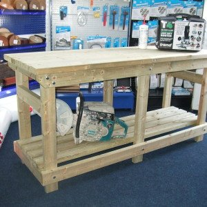 Custom Heavy Duty Work bench / Wooden Work Bench / Wooden Work Benches by Wells Timber Products