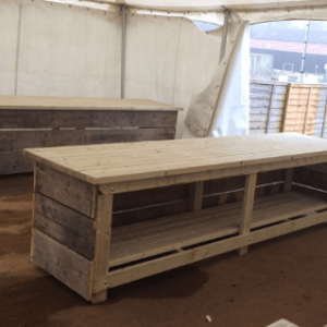Heavy Duty Work Bench. Custom wooden work benches for shows and fairs