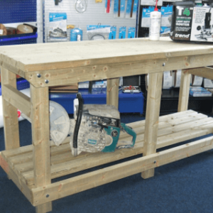 solid wooden work benches for industrial stores
