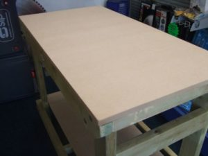4 ft mdf topped heavy duty workbench from wells timber products