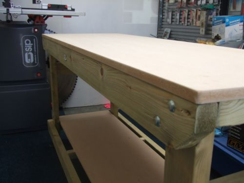 6 ft mdf topped heavy duty workbench from wells timber products